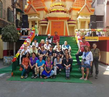 Pandal tour with Israeli group